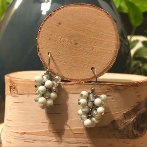 Mini Mint Green Bead Dangle Earrings